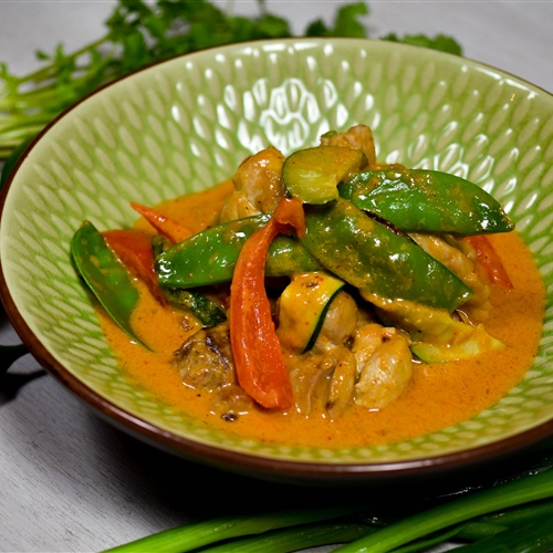 Thai Red Curry Chicken and Vegetables and Rice