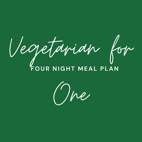 Vegetarian Meal Package for One.  4 x Meals plus 2 X Sides